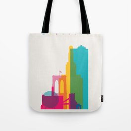 Shapes of Brooklyn. Accurate to scale Tote Bag