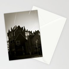 Urban Poetry, Poetic City, Brussels 's Houses, Hugo Litteracy, Rooftop, Vintage Print, Urban Photo Stationery Cards