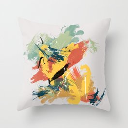 Intuitive Conversations, Abstract Mid Century Colors Throw Pillow