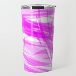 Pink and smooth sparkling lines of crimson ribbons on the theme of space and abstraction. Travel Mug