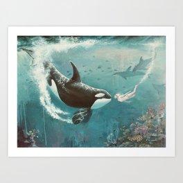 Underwater Love at First Sight Art Print