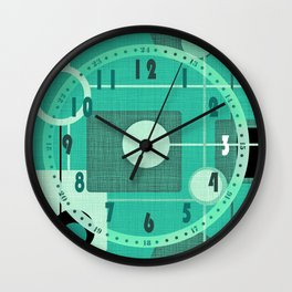 orbs and square emerald Wall Clock