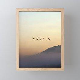 A Sunrise as Good as Gold Framed Mini Art Print