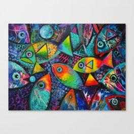 Hello Fishies ii Canvas Print
