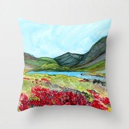 Long Lake, Alaska Throw Pillow