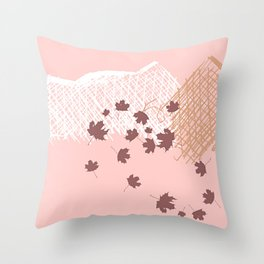 Mountain Winds Leaves Throw Pillow