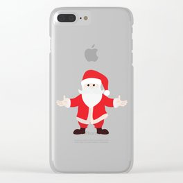 Christmas Santa Claus is Coming to Hug You Clear iPhone Case