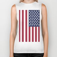 america Biker Tanks featuring America. by Jake  Williams