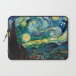 Tardis Art Starry Painting Night Laptop Sleeve
