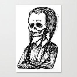 Wednesday Skull Canvas Print
