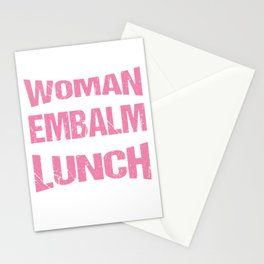 Mortician Morgue Mortuary Embalming Profession Gift Never Cross A Woman That Can Embalm And Talk Stationery Cards