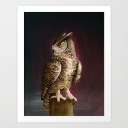 Eagle Owl Portrait Art Print