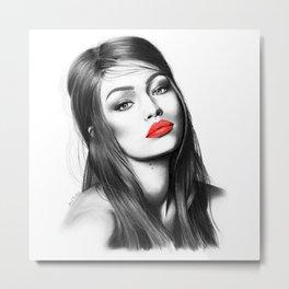 Gigi Hadid Metal Print