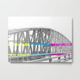 Color Block Bridge  Metal Print