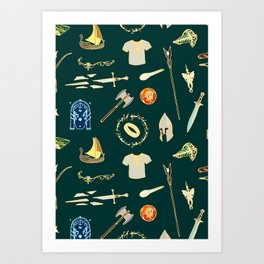 Lord of the pattern green Art Print