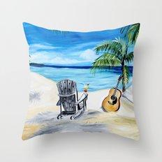 Beach Time with Martin Throw Pillow