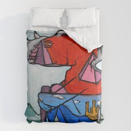Contemplating Collective Consciousness by Amos Duggan 2013 Comforters