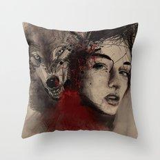 of a woman Throw Pillow
