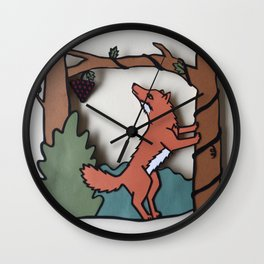 The Fox & The Grapes Wall Clock