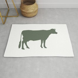 Cow: Green Rug