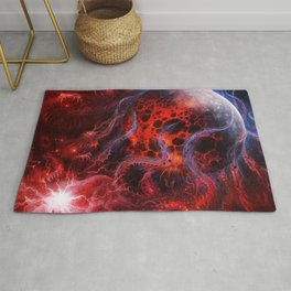 Scary Cosmic Ghost Monster Consuming Exploding Planet Whole Ultra HD Rug