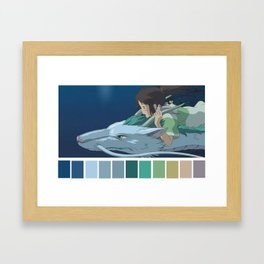 Chihiro and haku Framed Art Print