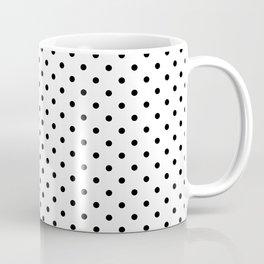 Dots (Black/White) Coffee Mug