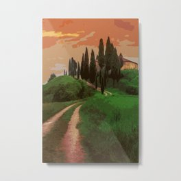 Tuscany, fairy landscape Metal Print