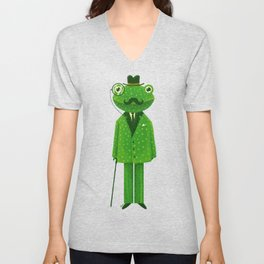 Mr. Frog Unisex V-Neck