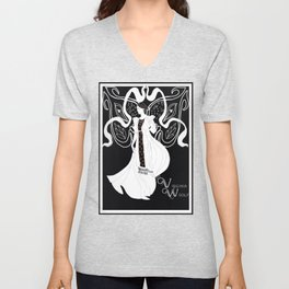 Virginia Woolf Art Nouveau Unisex V-Neck