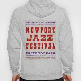1959 Newport Jazz Festival Vintage Advertisement Poster Newport, Rhode Island Hoody