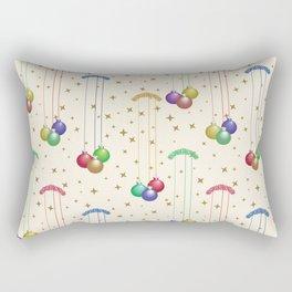 Colorful Christmas balls,gold stars SB9 Rectangular Pillow