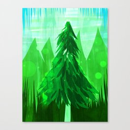 Tall Greens Canvas Print