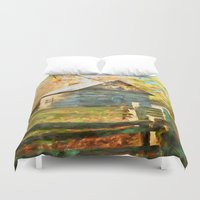 cabin Duvet Covers featuring Pucketts Cabin by ThePhotoGuyDarren