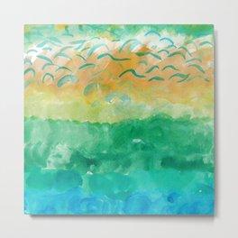 Abstract sea Metal Print
