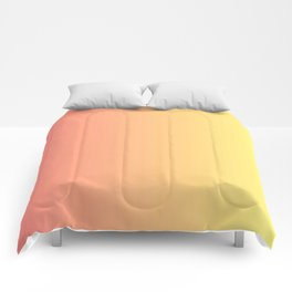 Color gradient 14. red and yellow. abstraction,abstract,minimalism,plain,ombré Comforters