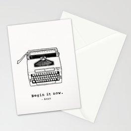Begin It Now: Retro Typewriter Artwork Stationery Cards
