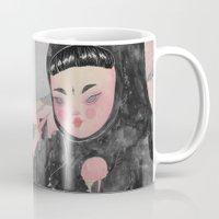 loll3 Mugs featuring CuteZilla by lOll3