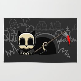 Grim Reapets - A Cat Named Coffin - Bloody Halloween Variant Rug