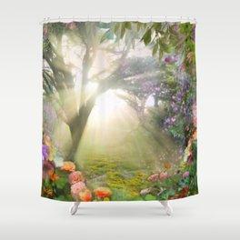 Fairyland Sunset Garden Shower Curtain