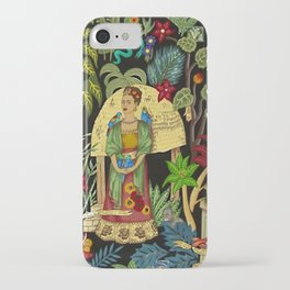 Frida's Garden, Casa Azul Lush Greenery Frida Kahlo Landscape Painting iPhone Case