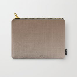 Brown to Pastel Brown Horizontal Linear Gradient Carry-All Pouch