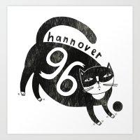 96 Katze Art Print