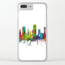Plymouth England Skyline Clear iPhone Case