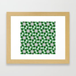 Beautful whirling green spirals Framed Art Print