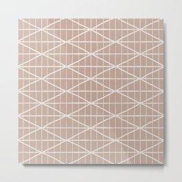Light terracotta crossed lines pattern Metal Print