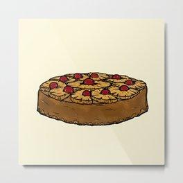 U is for Upside-Down Cake Metal Print