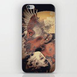 PORTRAIT (Woman and bird) iPhone Skin