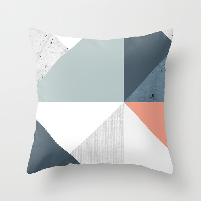 Modern Geometric 12 Throw Pillow