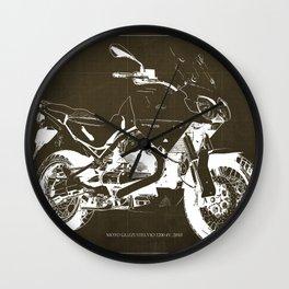 2010 Moto Guzzi Stelvio 1200 4V brown blueprint Wall Clock